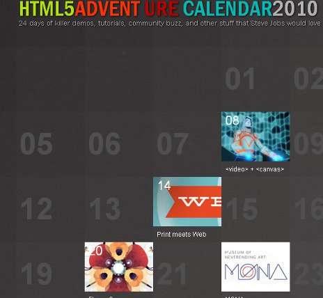 calendarios HTML
