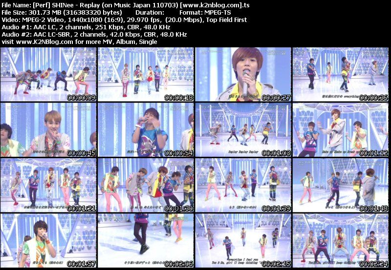 Download [Perf] SHINee – Replay (on Music Japan 110703)